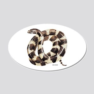 King Snake 20x12 Oval Wall Decal