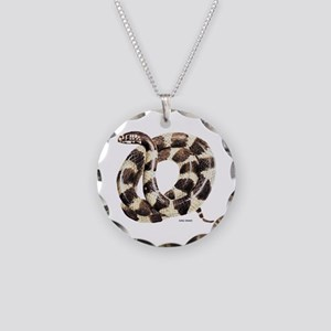 King Snake Necklace Circle Charm