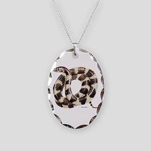 King Snake Necklace Oval Charm