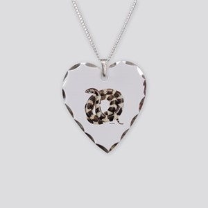 King Snake Necklace Heart Charm