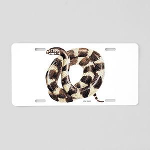King Snake Aluminum License Plate