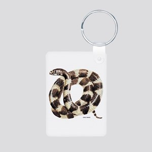 King Snake Aluminum Photo Keychain