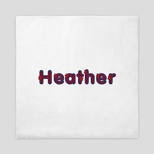Heather Red Caps Queen Duvet