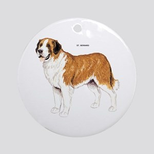 St. Bernard Dog Ornament (Round)