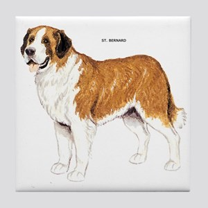 St. Bernard Dog Tile Coaster