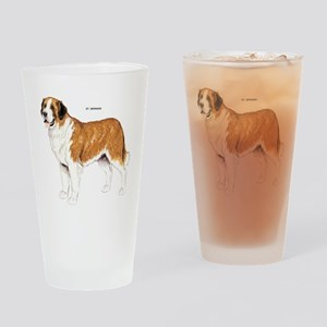 St. Bernard Dog Drinking Glass