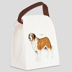 St. Bernard Dog Canvas Lunch Bag