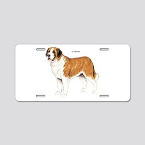St. Bernard Dog Aluminum License Plate