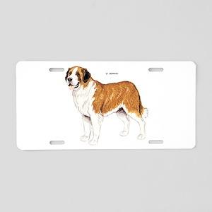 St. Bernard Dog Aluminum License Plate