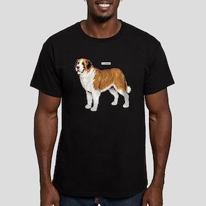 St. Bernard Dog Men's Fitted T-Shirt (dark)