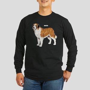 St. Bernard Dog Long Sleeve Dark T-Shirt