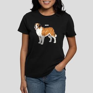 St. Bernard Dog Women's Dark T-Shirt