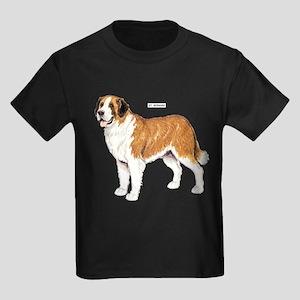 St. Bernard Dog Kids Dark T-Shirt