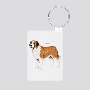 St. Bernard Dog Aluminum Photo Keychain