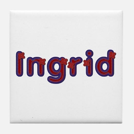 Ingrid Red Caps Tile Coaster