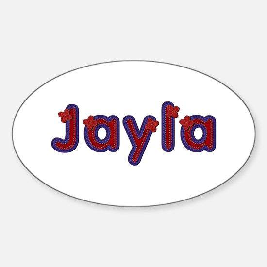 Jayla Red Caps Oval Decal