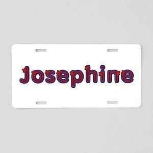Josephine Red Caps Aluminum License Plate
