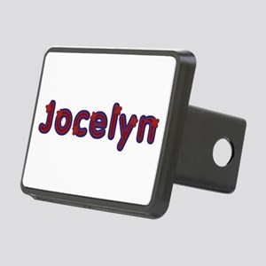 Jocelyn Red Caps Rectangular Hitch Cover
