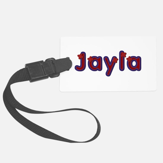 Jayla Red Caps Luggage Tag