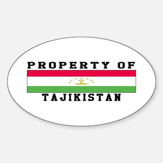 Property Of Tajikistan Sticker (Oval)