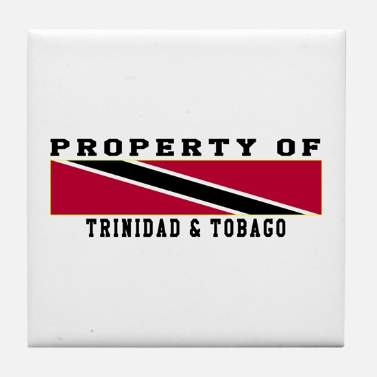 Property Of Trinidad & Tobago Tile Coaster