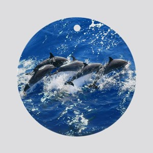 Pan Tropical Dolphins Ornament (Round)