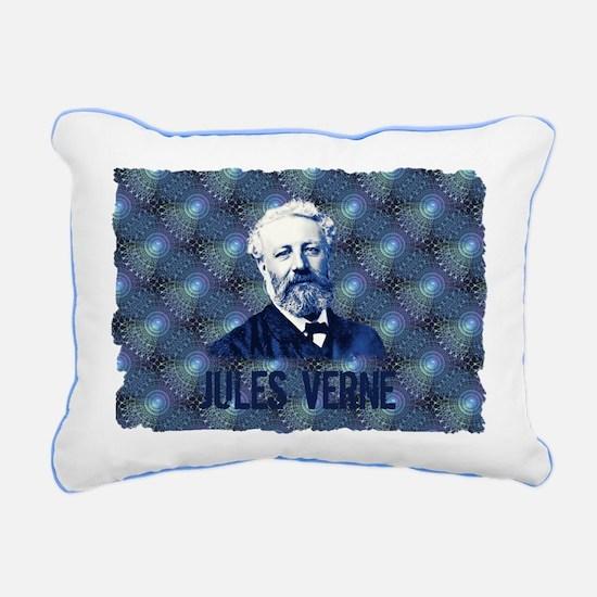 Jules Verne in Blue Rectangular Canvas Pillow