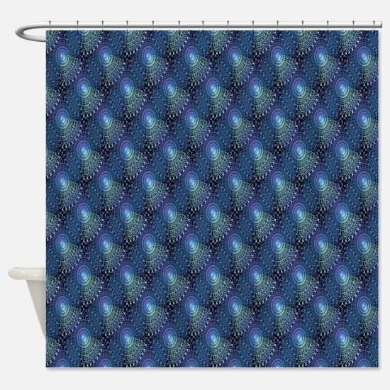 Steampunk in Blue Shower Curtain