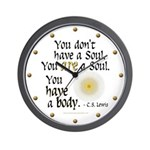 CS Lewis Soul-Body Quote Wall Clock