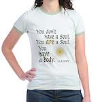 CS Lewis Soul-Body Quote Jr. Ringer T-Shirt
