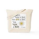 CS Lewis Soul-Body Quote Tote Bag