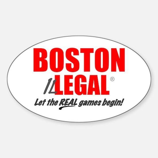 Boston Illegal Oval Bumper Stickers