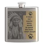 Chief Joseph Quote Flask