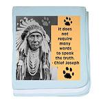 Chief Joseph Quote baby blanket