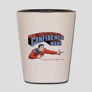 Confidence Man! Shot Glass