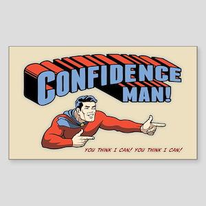 Confidence Man! Sticker (Rectangle)