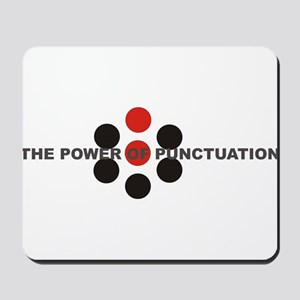 The Power of Punctuation 5 Mousepad
