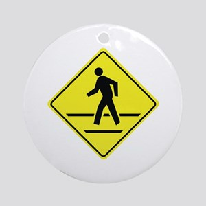 Pedestrian Crossing Ornament (Round)