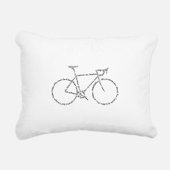 Word Bike Rectangular Canvas Pillow