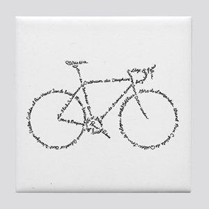 Word Bike Tile Coaster
