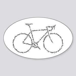 Word Bike Sticker