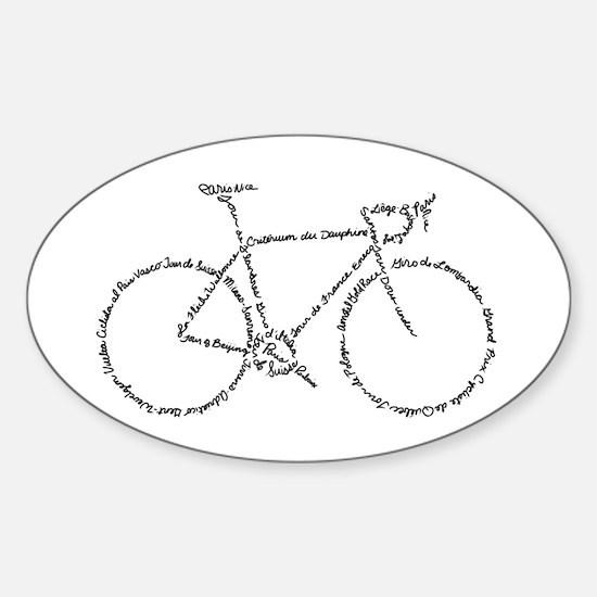 Word Bike Decal