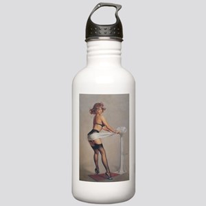 Classic Elvgren 1950s Pin Up Girl Water Bottle