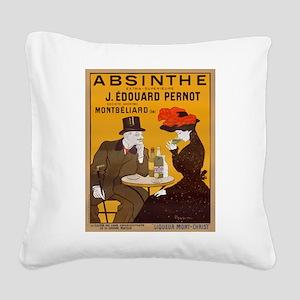 Absinthe Edouard Pernot Square Canvas Pillow