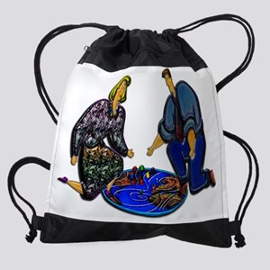 Weather Reporting in Three D Mousep Drawstring Bag