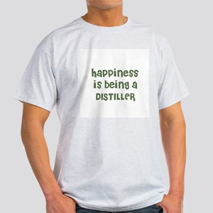 Happiness is being a DISTILLE Ash Grey T-Shirt