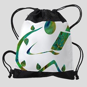 2-GreenReader Drawstring Bag