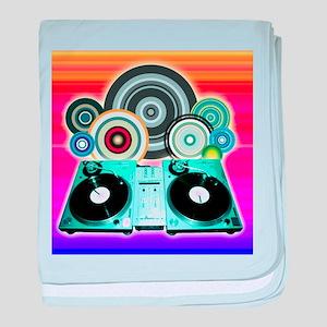 DJ Turntable and Balls baby blanket