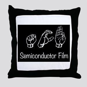 semiconductor Film black Throw Pillow