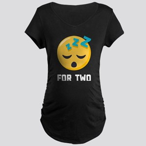Sleeping for Two Emoji One Maternity T-Shirt
